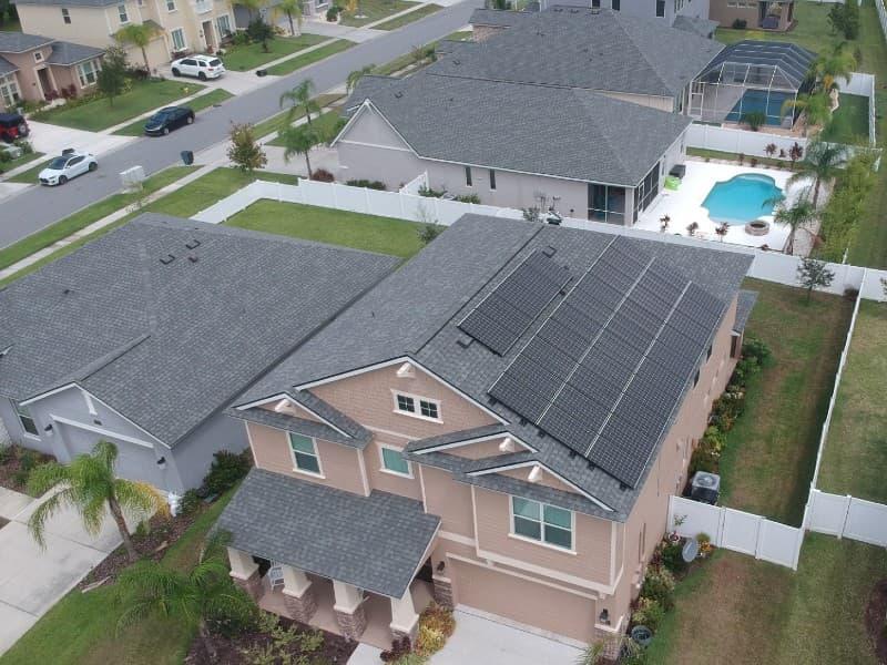 solar panels orange city